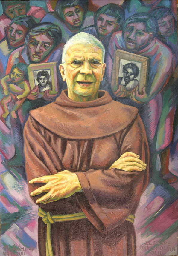 Sergio  Michilini, PADRE URIEL MOLINA OLIU', 2004, oleo sobre tela, cm.80x55