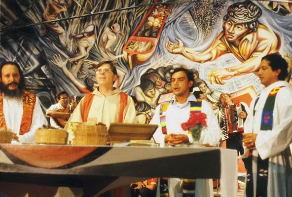 52 1982-1985-1z9    IL PADRE URIEL MOLINA OLIU', parroco della Chiesa del Barrio Riguero, Managua