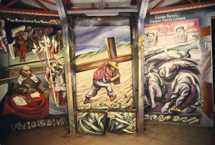 21  - 1982-1985-1i    TRITTICO DEL CRISTO CONTADINO,Chiesa del Barrio Riguero, Managua