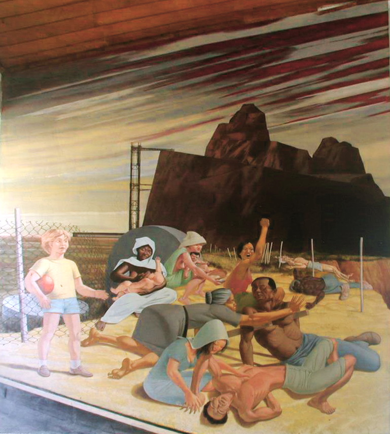 Aurelio C., EL MAL GOBIERNO DE AMERICA LATINA, 1987, pintura acrílica, m.4.75×3.46 DETALLE