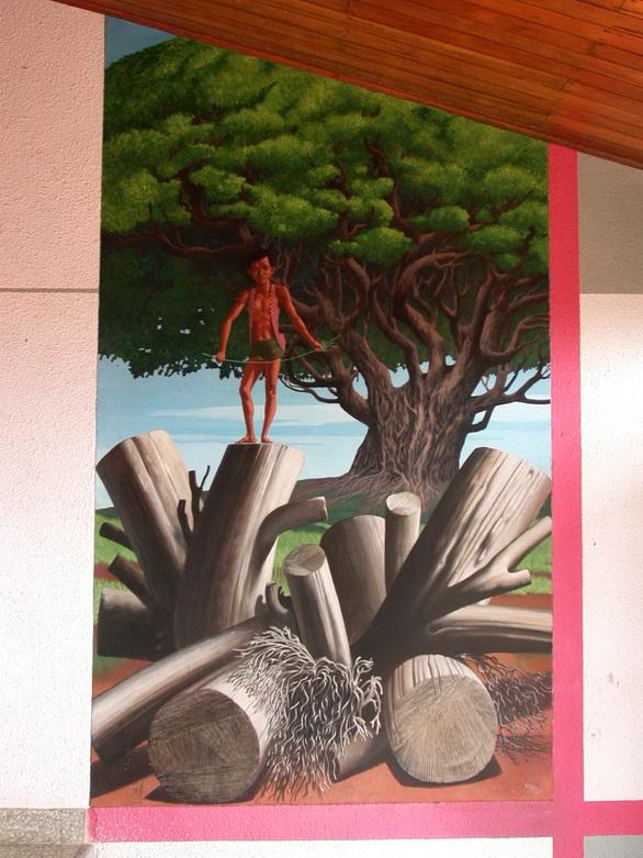 Aurelio C. , SANDINO NIÑO , 1987, pintura acrílica, m.2.10×1.33