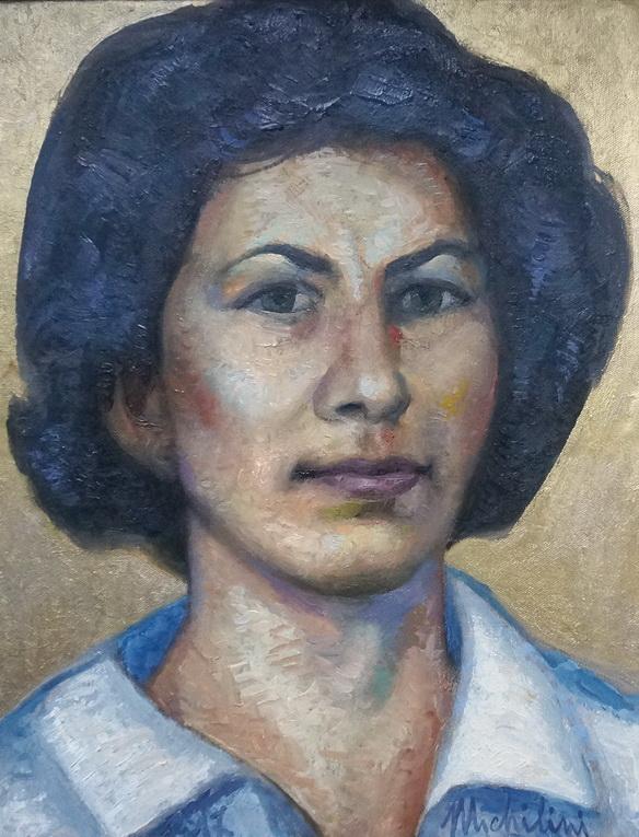 Sergio Michilini, MARIA AMATO, 2017, olio su tela, cm 45x35