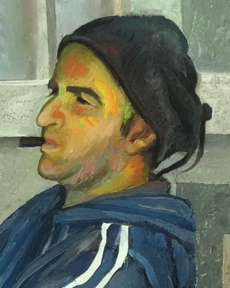 Sergio Michilini, 'NU PUORCO ACCISO, 2017, particolare