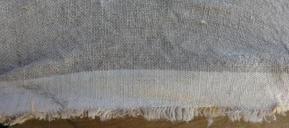tela 100% de lino virgen, grano grueso y de malla cerrada