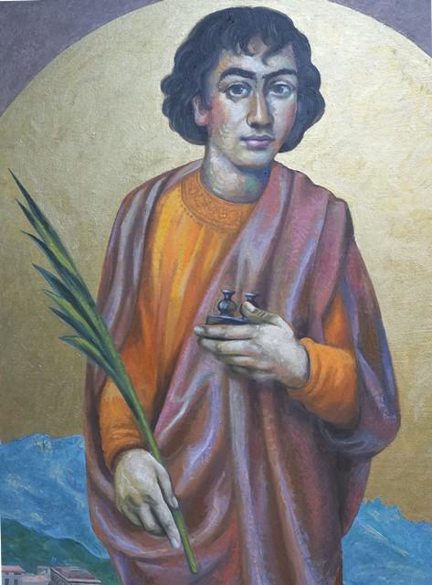 Sergio Michilini, SAN PANTALEONE DI RAVELLO, 2017, olio su tela, cm.110x65 PARTICOLARE