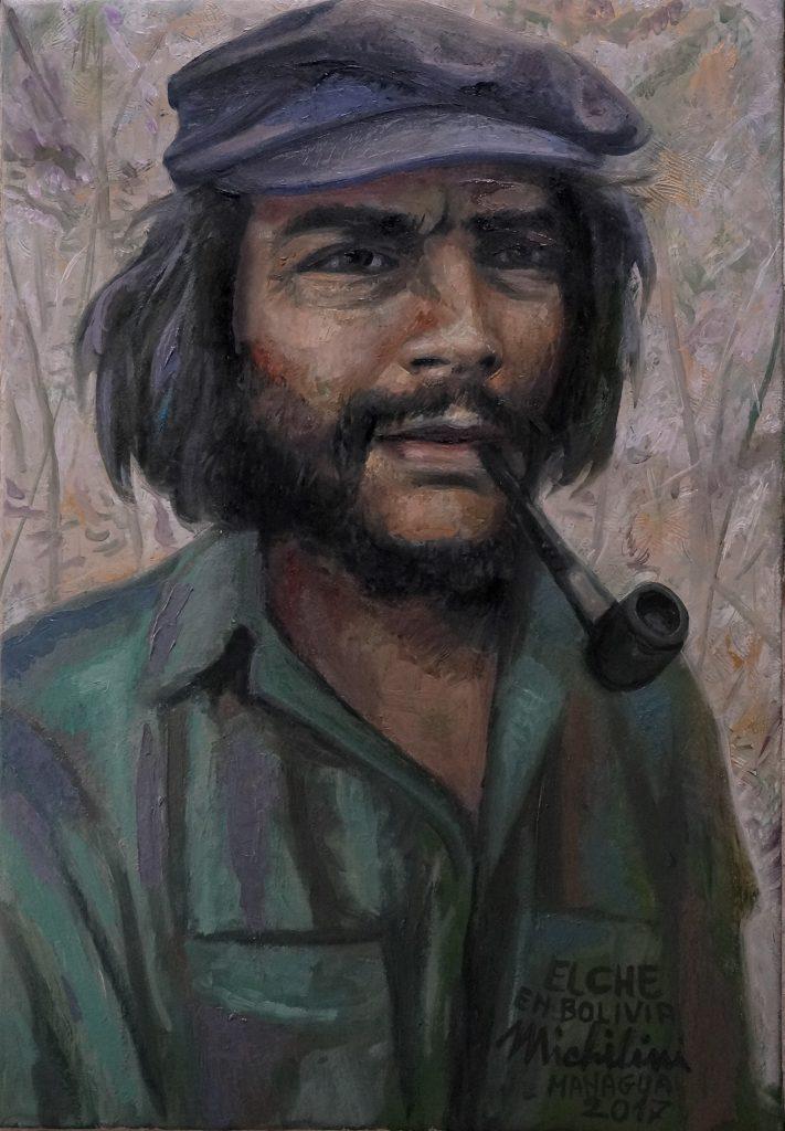 Sergio Michilini, EL CHE EN LA QUEBRADA DEL CHURO, 2017, oleo sobre tela, cm 62x43