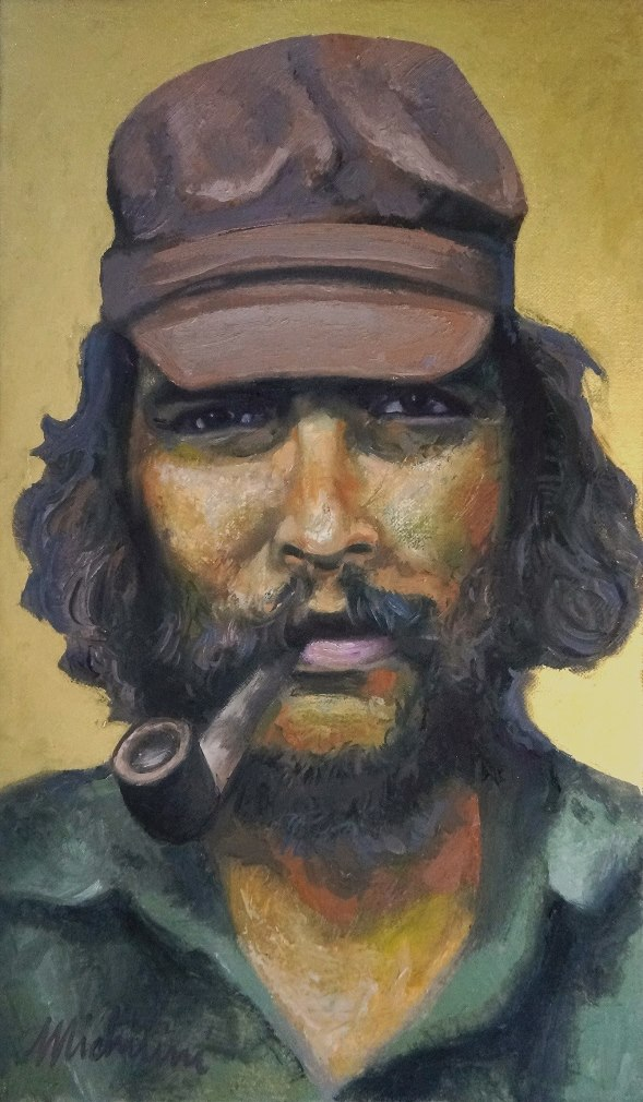 Sergio Michilini, SAN ERNESTO DE LA HIGUERA, óleo sobre tela, cm.50x30