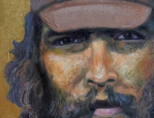 Sergio Michilini, SAN ERNESTO DE LA HIGUERA, óleo sobre tela, cm.50x30 detalle
