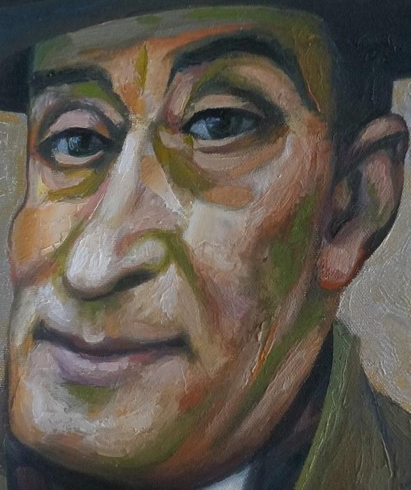 Sergio Michilini, RITRATTO DI TOTÓ, 2017, olio su tela, cm.31x25