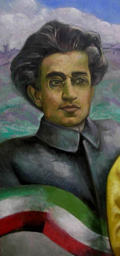 2012 Gramsci en el RITRATTO DI MICHELE MIMMO, olio su tela, cm80x100