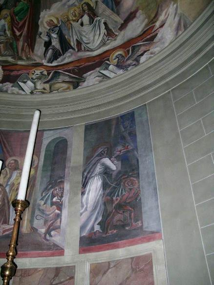 Perignano, Chiesa S.Lucia , abside, particolare 1941-42