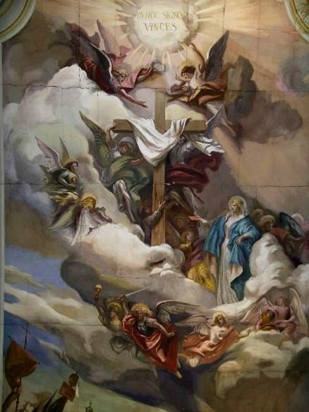 Casciana Terme, Chiesa S.Martino, particolare 1945-46