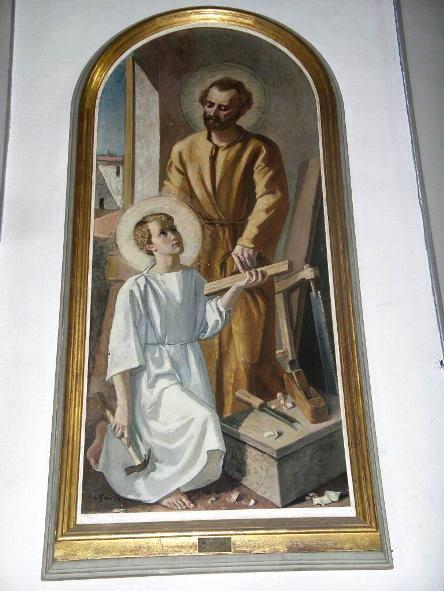 Montopoli, Chiesa S.Stefano e S. Giov. Evangelista, Altare a sinistra, San Giuseppe, 1952