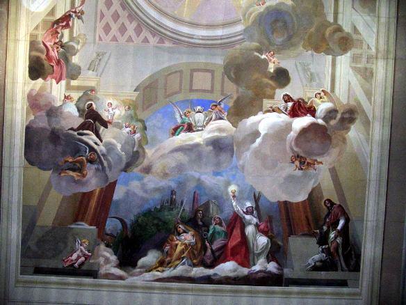 Montopoli, Chiesa S.Stefano e S. Giov. Evangelista, soffitto altare, 1952