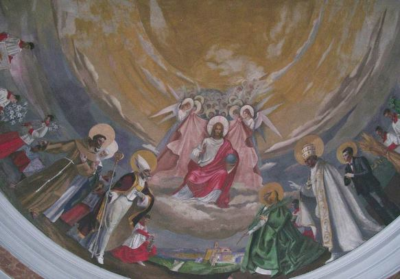 Chianni,Chiesa di San Donato, Catino Absidale, Tempera all'uovo, 1964-65
