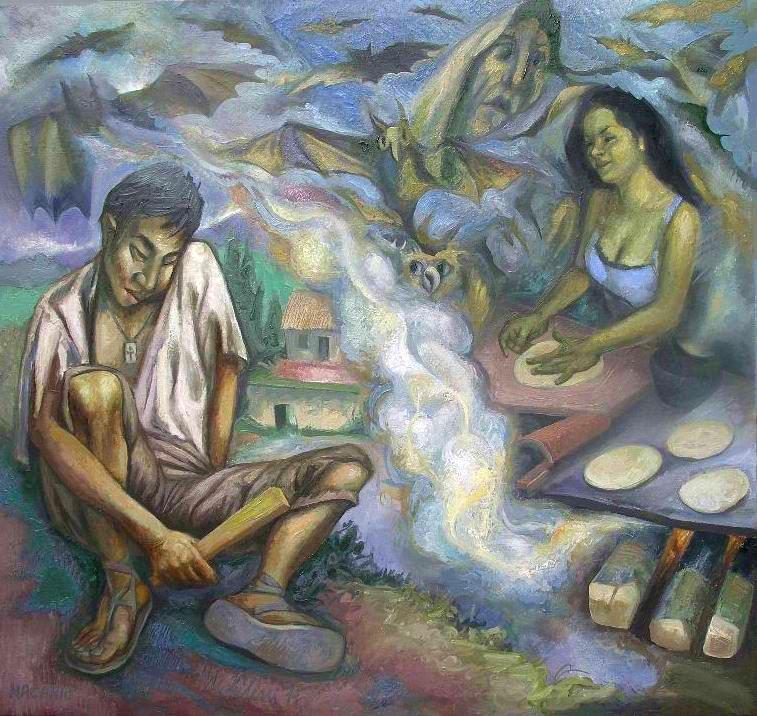 Sergio Michilini, MACARIO (Juan Rulfo. El llano en llamas), 2011, oleo sobre tela, cm.80x75