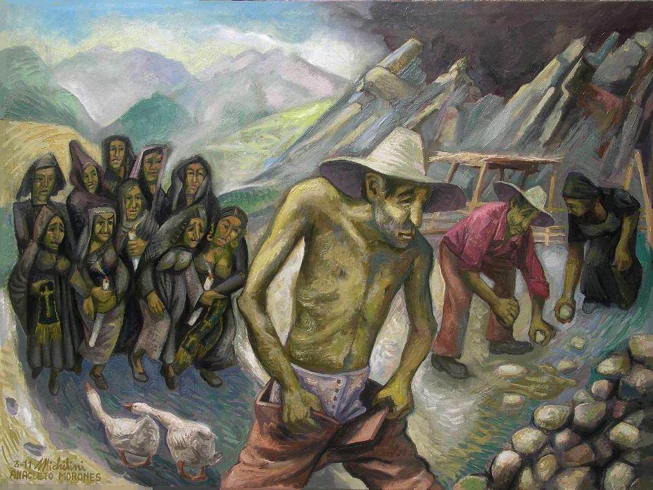 Sergio Michilini, 2011, ANACLETO MORONES, olio su tela di lino, cm.60x80