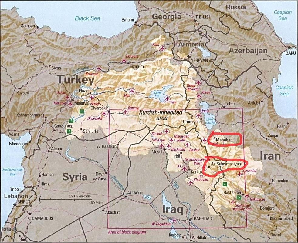 El territorio de la nación de KURDISTAN dividido entre varios estados