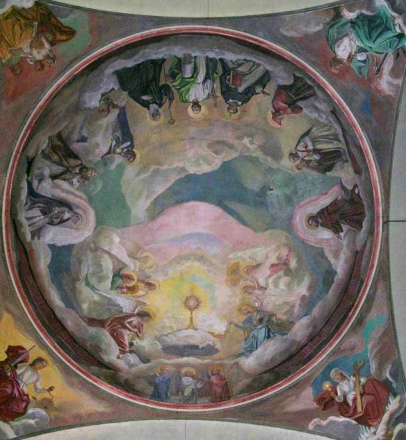 Perignano, Chiesa S.Lucia , cupola, particolare 1941-42