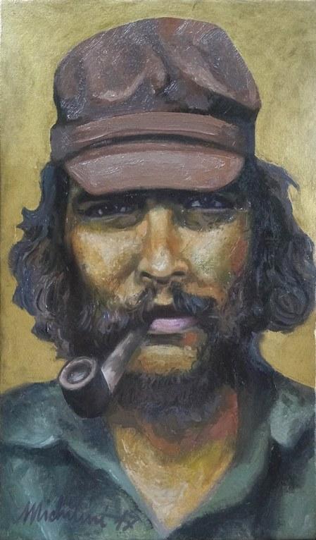 Sergio Michilini, EL CHE GUEVARA EN BOLIVIA, 2017, óleo sobre tela, cm.50x30