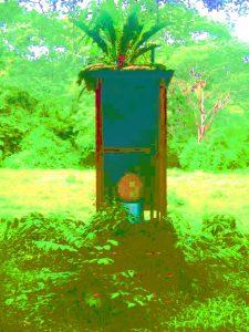 "Fulano de Tal, ""Escusado de Artista"", 2017, instalación para uso público, cm197x86x92, Colección Municipal, Papaturro, Los Guatusos, Nicaragua"
