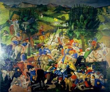 CORRADO CAGLI, La battaglia di San Martino, 1936