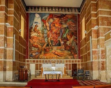 FERRUCCIO FERRAZZI, altar iglesia de Amatrice, Italia, 1953 - 1956