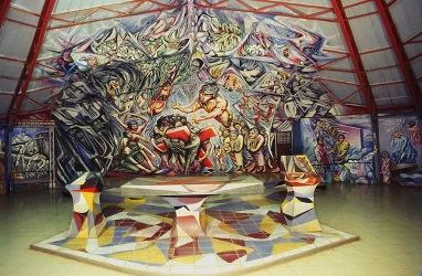 1982 - 1985 Conjunto Artístico Monumental SANTA MARIA DE LOS ANGELES, Barrio Riguero, Managua