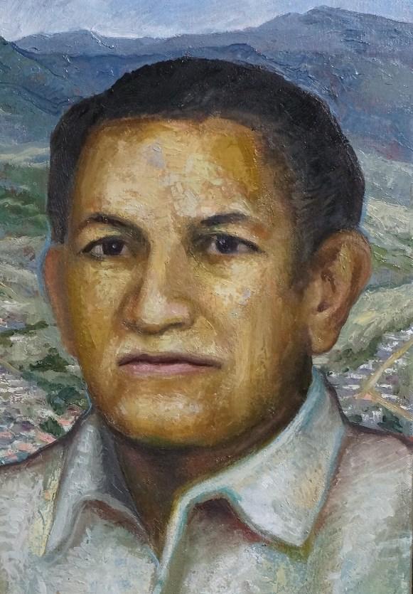 Sergio Michilini, LOS ABUELOS NORTEÑOS, 2018, oleotela, cm50x64 DETALLE