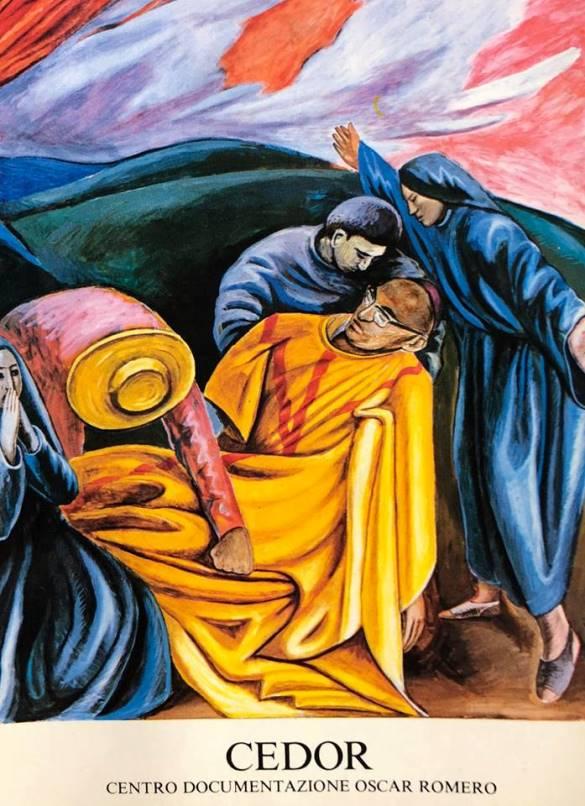 San Romero Distruzione Della Pittura Murale Nella Fondazione Della Conferenza Episcopale Italiana La Bottega Del Pittorela Bottega Del Pittore