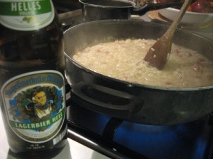 Risotto alla birra
