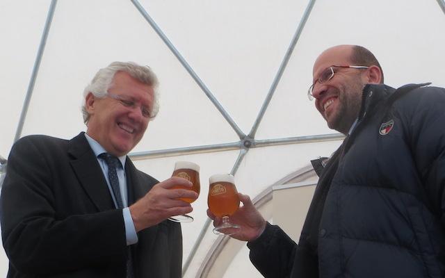 Frausin con il sindaco di Induno, Cavallin