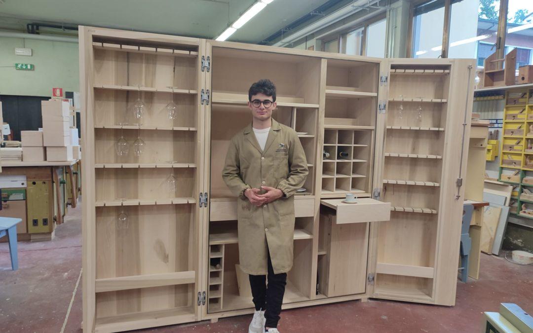Christian Carissimi, apprendista falegname: i suoi studi e i progetti